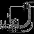 ALCAPLAST CLICK/CLACK kádszifon készlet, fekete-matt, 120 cm