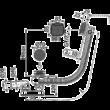 ALCAPLAST automata kádszifon, feltöltős túlfolyóval, fekete-matt, 80 cm