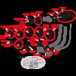 ALCAPLAST automata kádszifon, feltöltős túlfolyóval, fekete-matt, 57 cm