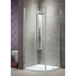RADAWAY Eos PDD íves zuhanykabin - átlátszó üveggel