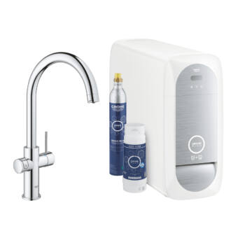 GROHE Blue® Home alapcsomag, C-kifolyócsővel