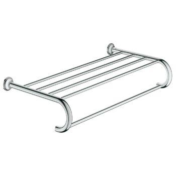 GROHE Essentials Authentic fali fürdőlepedő tartó polccal