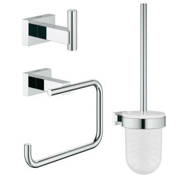 GROHE Essentials Cube City fürdőszobai kiegészítő szett 3-in-1