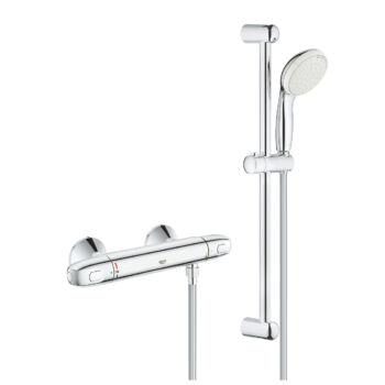 """GROHE Grohtherm 1000 termosztátos zuhanycsaptelep  1/2"""" zuhanyszettel"""