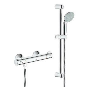 GROHE Grohtherm 800 termosztátos zuhanycsaptelep zuhanyszettel