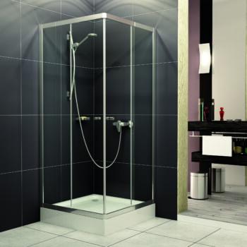 H2O Projecta szögletes zuhanykabin, zuhanytálcával, szifonnal