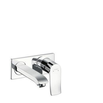 HANSGROHE Metris egykaros mosdócsaptelep LowFlow 3,5 l/perc falsík alatti szereléshez, 165 mm-es kifolyóval, fali szereléshez