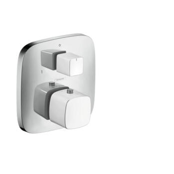 HANSGROHE PuraVida termosztát falsík alatti szereléshez váltószeleppel, fehér/króm