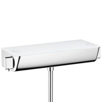 HANSGROHE Ecostat Select falsíkon kívüli termosztátos zuhanycsaptelep, fehér/króm
