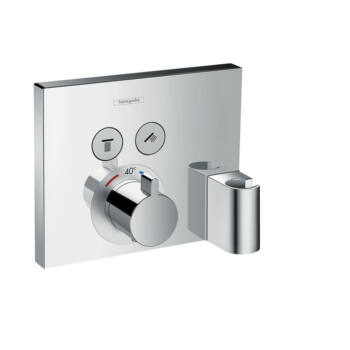 HANSGROHE ShowerSelect falsík alatti 2 fogyasztós termosztátos csaptelep, Fixfittel és Porterrel