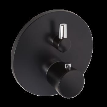KLUDI Balance falsík alatti termosztátos kád/zuhanycsap, mattfekete/króm