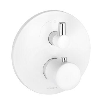 KLUDI Balance falsík alatti termosztátos kád/zuhanycsap, fehér/króm