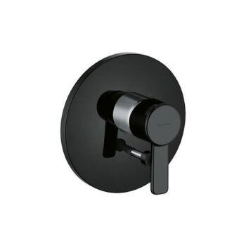 KLUDI Zenta falsík alatti kád/zuhanycsap, fekete/króm