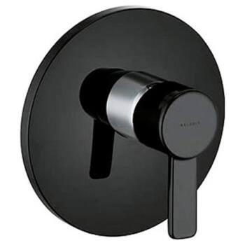 KLUDI Zenta falsík alatti egykaros zuhanycsap, fekete/króm