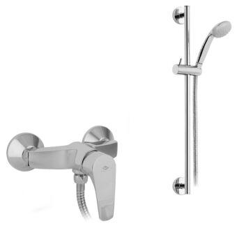 MOFÉM Junior EVO zuhany csaptelep állítható fali rúddal