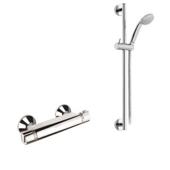 MOFÉM Junior EVO termosztátos zuhany csaptelep állítható fali rúddal