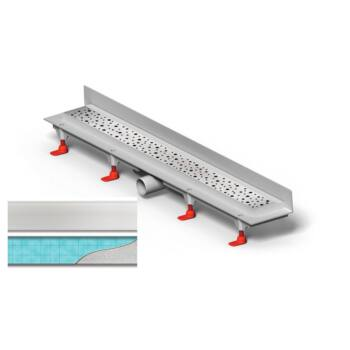 MOFÉM Linear sarok zuhanylefolyó, Klasik/Floor