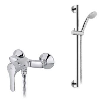 MOFÉM Pro zuhany csaptelep állítható fali rúddal
