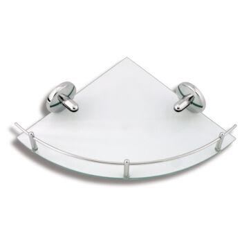 NOVASERVIS Metalia - 1 sarok üvegpolc, kerettel