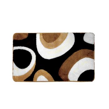 Fürdőszoba szőnyeg Deluxe Oval XL, 60×100, karamell