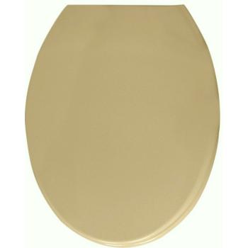 WC ülőke duroplast, beige, fém zsanérral