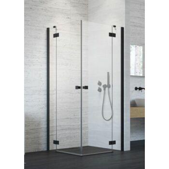 RADAWAY Essenza New Black KDD szögletes fekete zuhanykabin (1 oldal)
