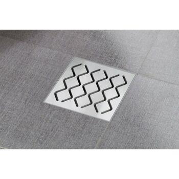 RAVAK SN501 padlóösszefolyó (műanyag lefolyó, rozsdamentes rács)