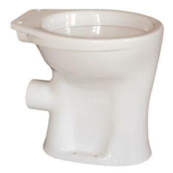 Magasított WC csésze, elöl zárt, lapos, hátsó