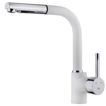 TEKA ARK 938 W (fehér) mosogató csaptelep kihúzható zuhanyfejjel