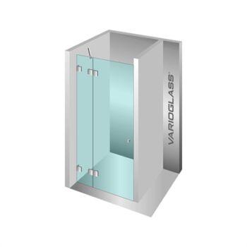 VARIOGLASS 104 zuhanyajtó, víztiszta