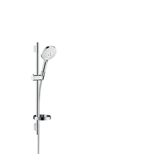 HANSGROHE Raindance Select S 120 3jet kézizuhany/ Unica'S Puro 0,65 m zuhanyszett, fehér/króm