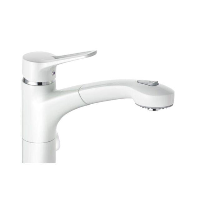 KLUDI MX egykaros mosogatócsap multi-csatlakozóval, fehér/króm