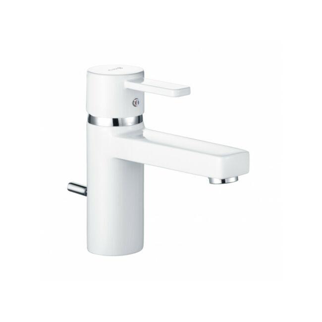 KLUDI Zenta XL mosdócsap 75 lefolyógarnitúrával, fehér/króm