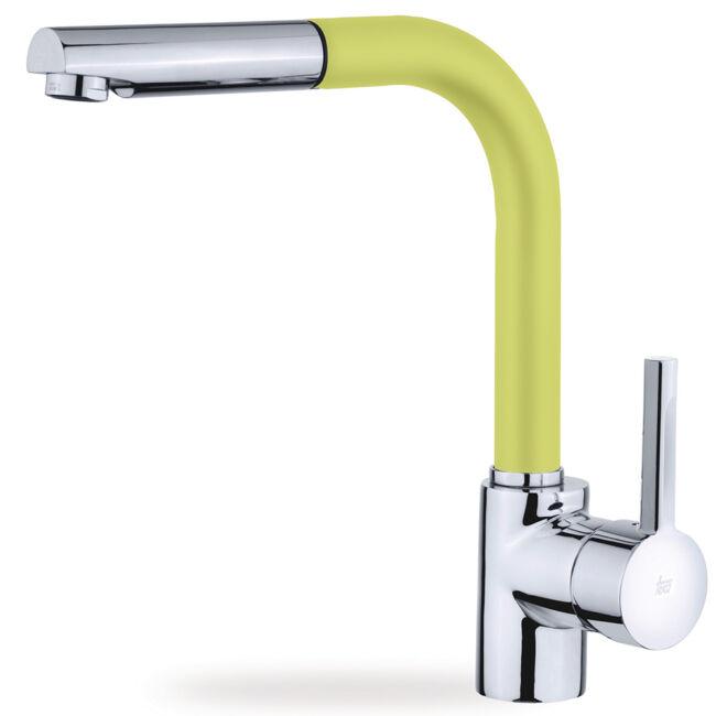 TEKA ARK 938 FY (citromsárga) mosogató csaptelep kihúzható zuhanyfejjel
