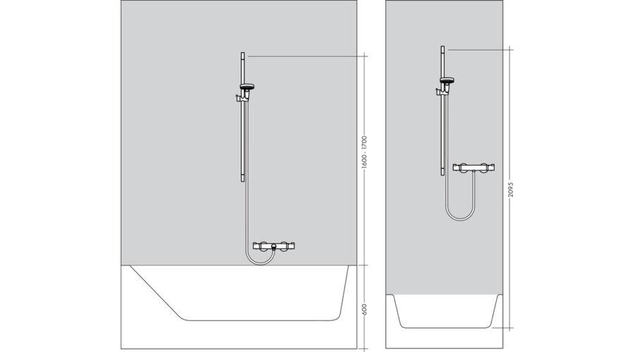 hansgrohe croma select e 1jet zuhanyszett 90 cm feh r kr m hansgrohe. Black Bedroom Furniture Sets. Home Design Ideas