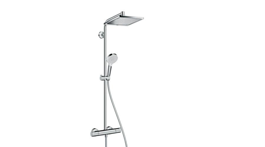 hansgrohe crometta e 240 1jet showerpipe termoszt tos. Black Bedroom Furniture Sets. Home Design Ideas