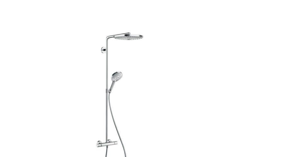 hansgrohe raindance select s 300 2jet showerpipe feh r kr m hansgrohe. Black Bedroom Furniture Sets. Home Design Ideas